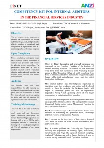May 2019 - Competency Kit for Internal Auditors in the FSI - Cambodia + Vietnam1