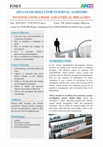 May 2019 - Corporate Crime Investigation for Audit Executives - Malaysia-1