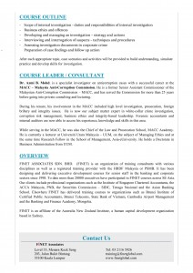 May 2019 - Corporate Crime Investigation for Audit Executives - Malaysia-2